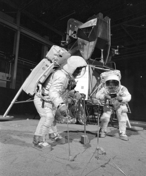 David Scott salutes the American flag during the Apollo 15 mission