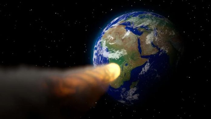 asteroid hitting planet Earth